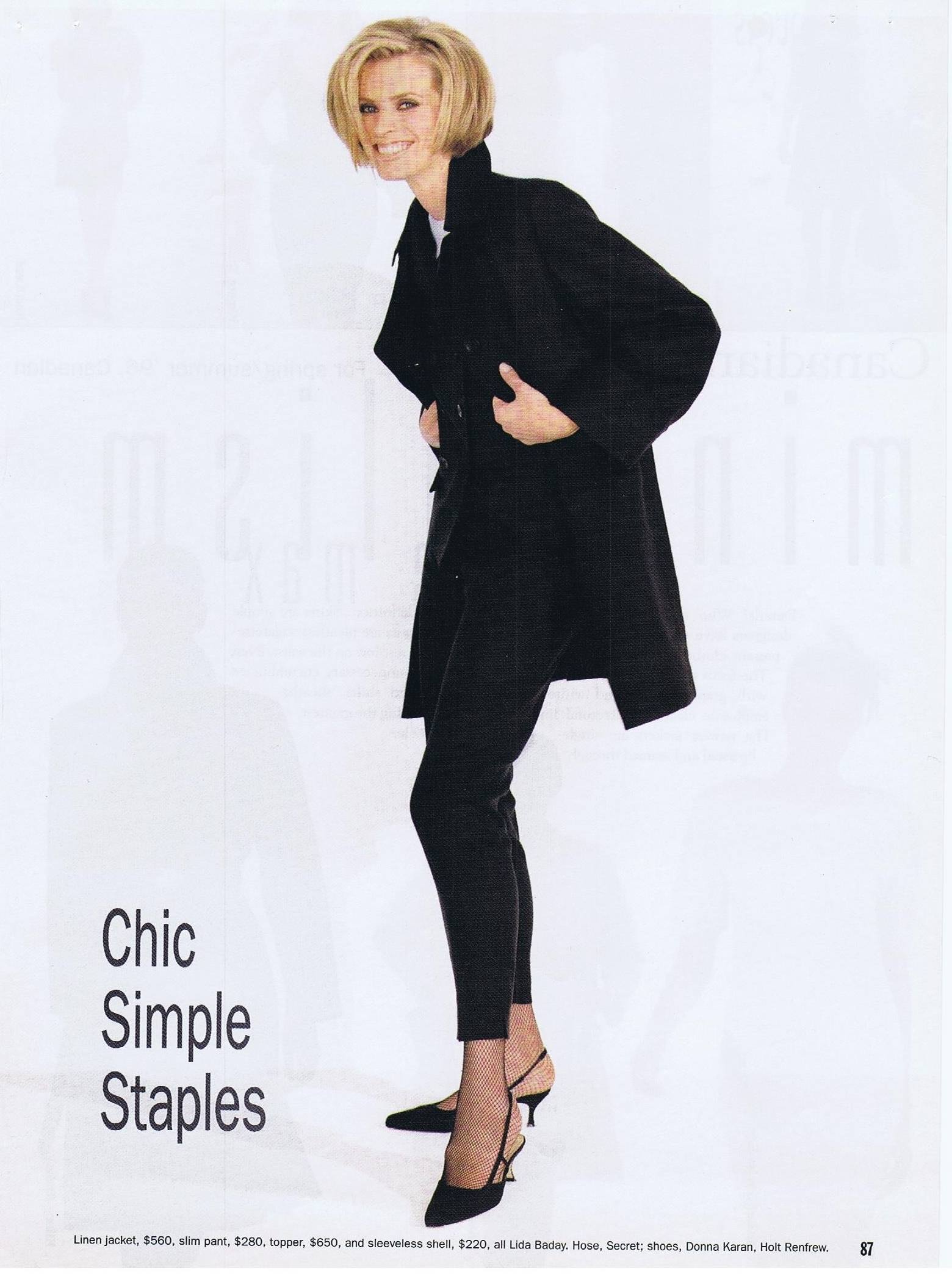 Canada Fashion Magazine: CANADIAN CONTENT: FASHION SPRING SUMMER 1996