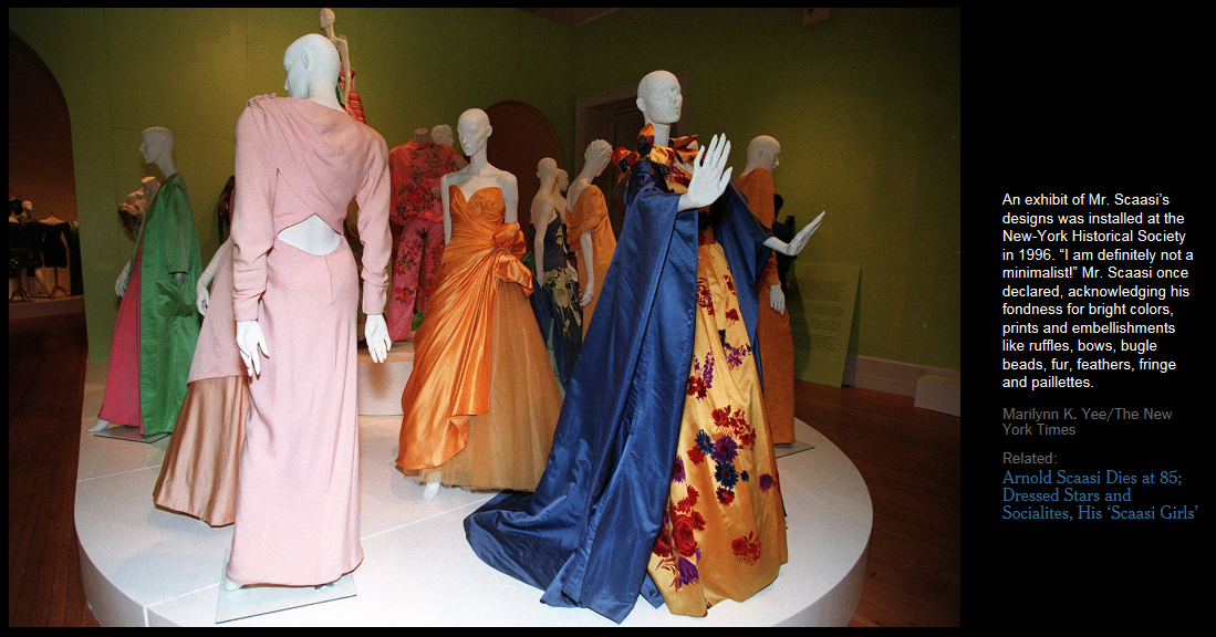 Canadian Fashion Designers Abroad Arnold Scaasi