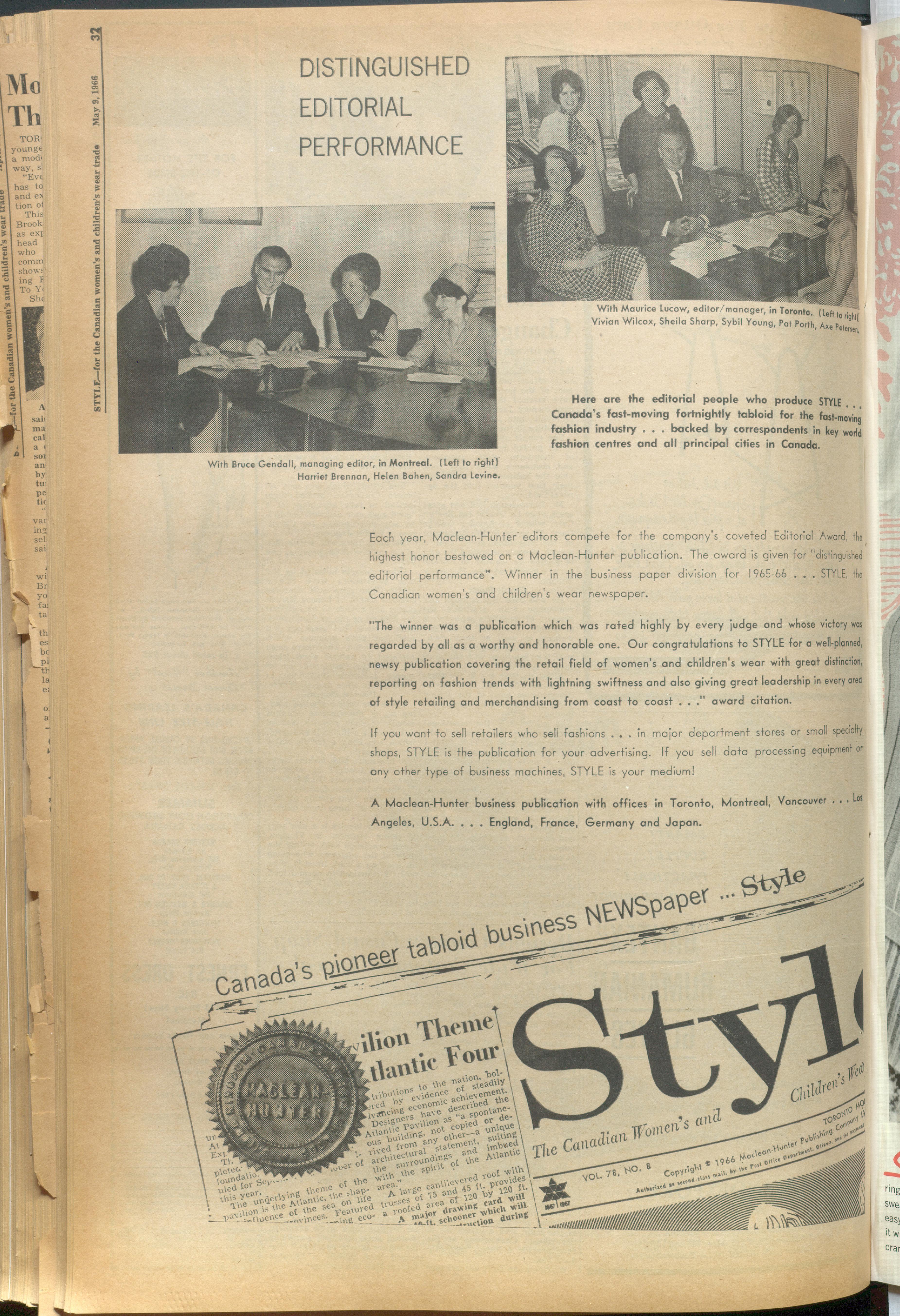 Style Magazine Style 1966 05 09